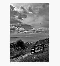 Bench with a View Photographic Print