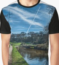 Vapour trails over the canal. Graphic T-Shirt