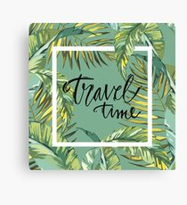 Travel time Canvas Print