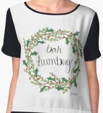 Bah Humbug Women's Chiffon Top