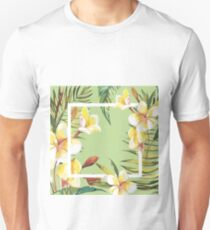 Plumeria flowers Unisex T-Shirt