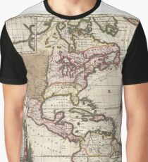 Antique Map - Hennepin's North America (1698) Graphic T-Shirt
