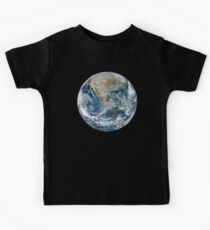EARTH, FROM SPACE, PLANET, Blue Marble, 2012, Composite satellite image, NORTH AMERICA Kids Clothes