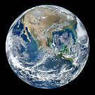EARTH, Blue Marble, 2012, Composite satellite image, NORTH AMERICA, FROM SPACE by TOM HILL - Designer