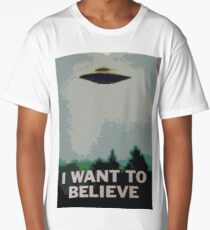 I Want to Believe- X Files Long T-Shirt