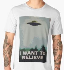 I Want to Believe- X Files Men's Premium T-Shirt