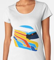 Fernando Alonso Helmet Illustration Women's Premium T-Shirt