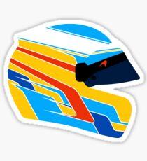 Fernando Alonso Helmet Illustration Sticker
