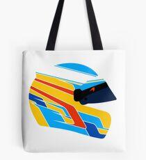 Fernando Alonso Helmet Illustration Tote Bag