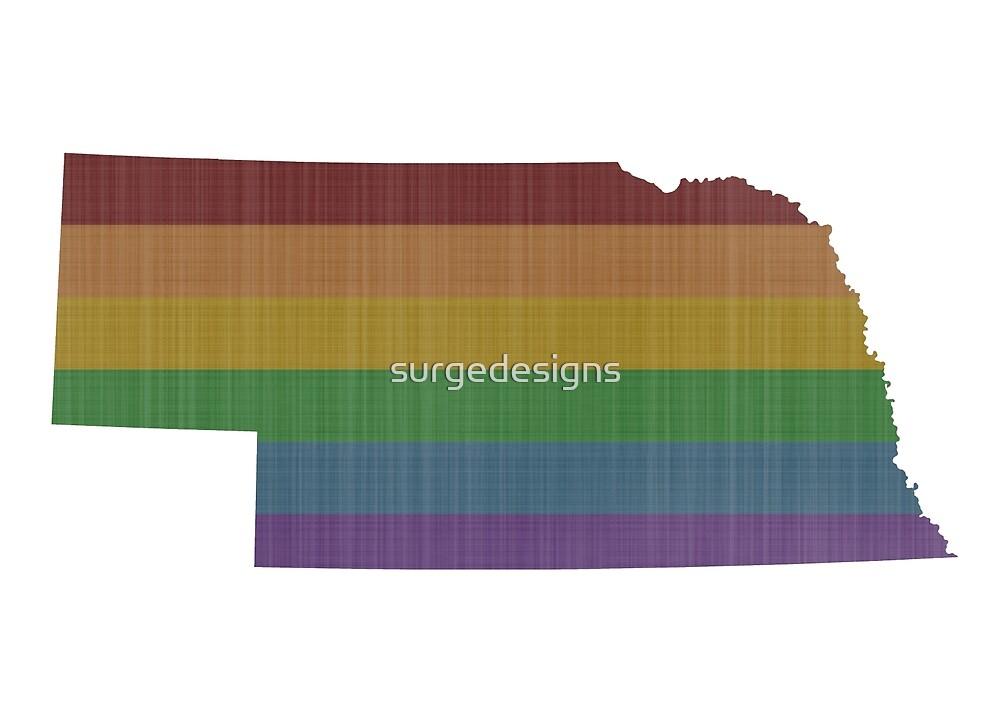 Nebraska Rainbow Gay Pride by surgedesigns