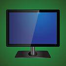blue tv screen by valeo5
