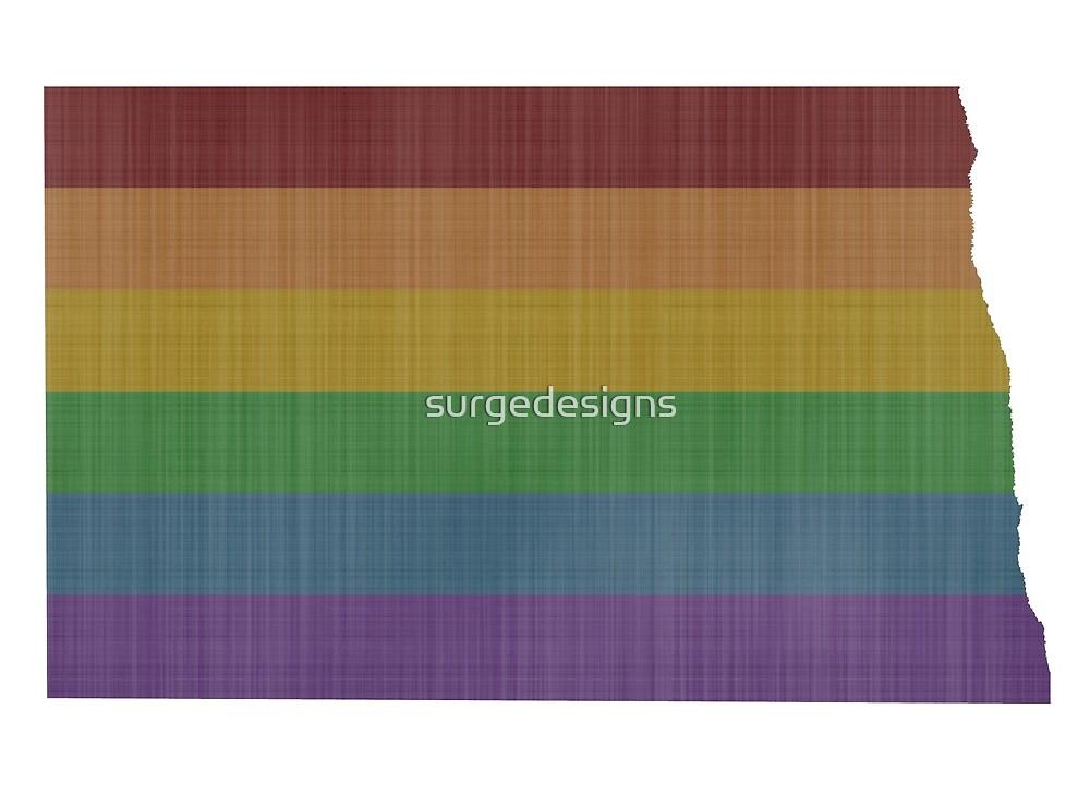 North Dakota Rainbow Gay Pride by surgedesigns
