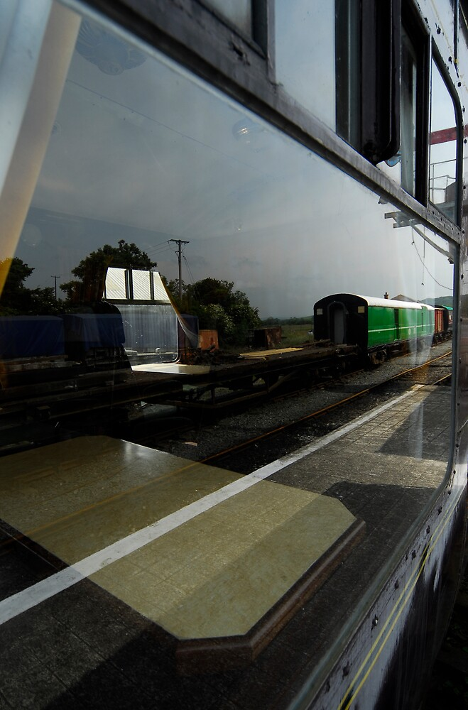 reflections on a train not going very far ... yet by ragman
