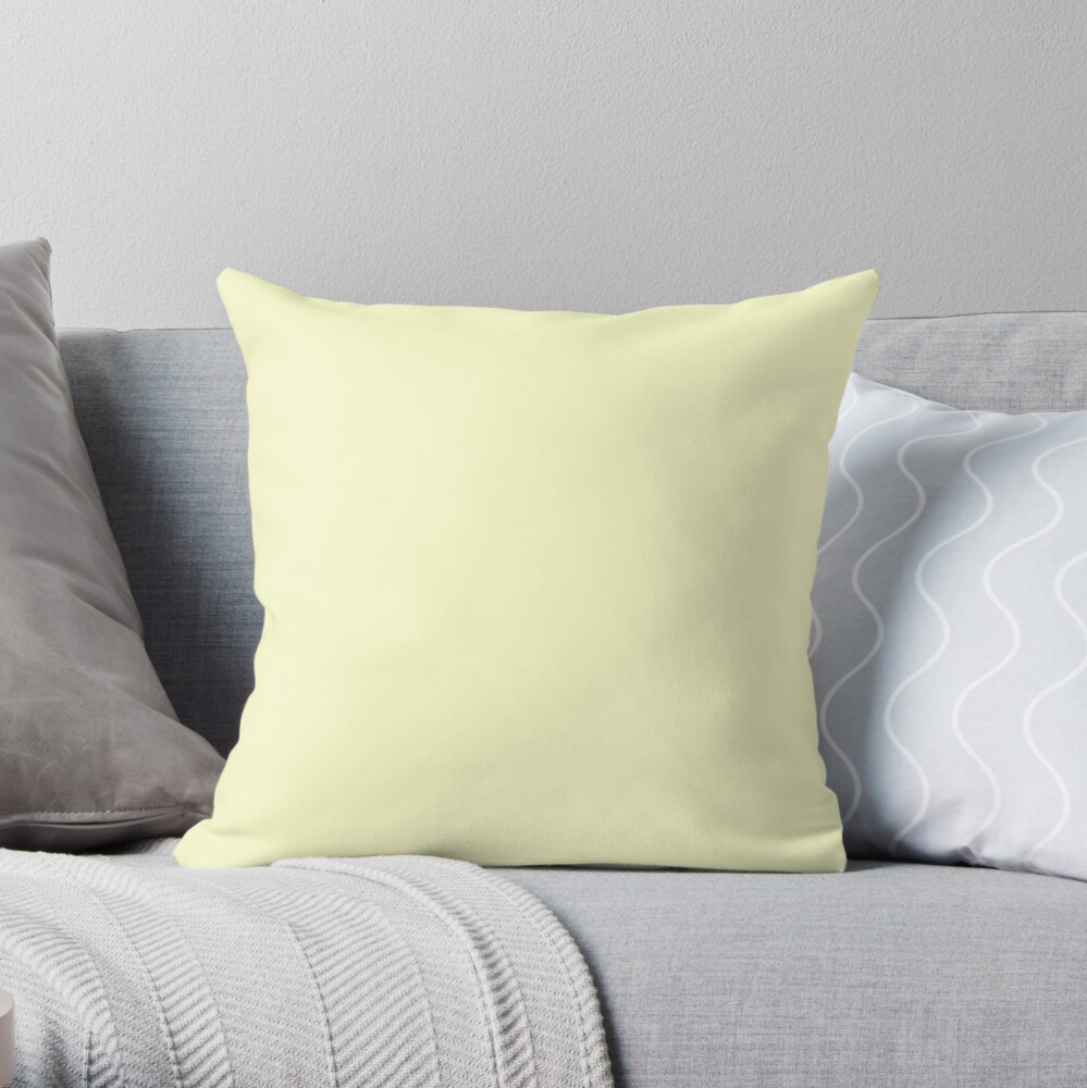 Pastel Color - Very Pale Yellow Throw Pillow