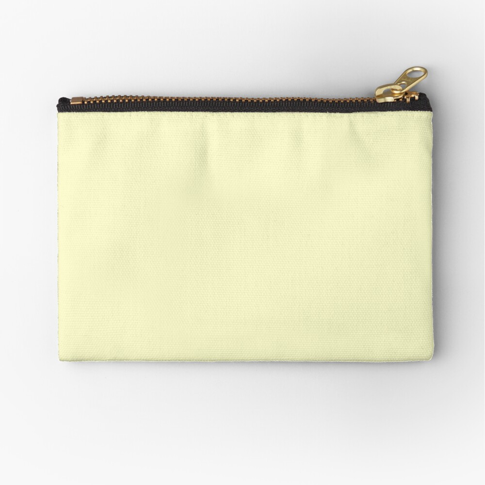 Pastel Color - Very Pale Yellow Zipper Pouch
