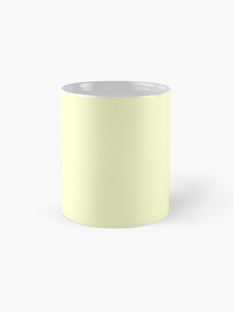 Alternate view of Pastel Color - Very Pale Yellow Mug