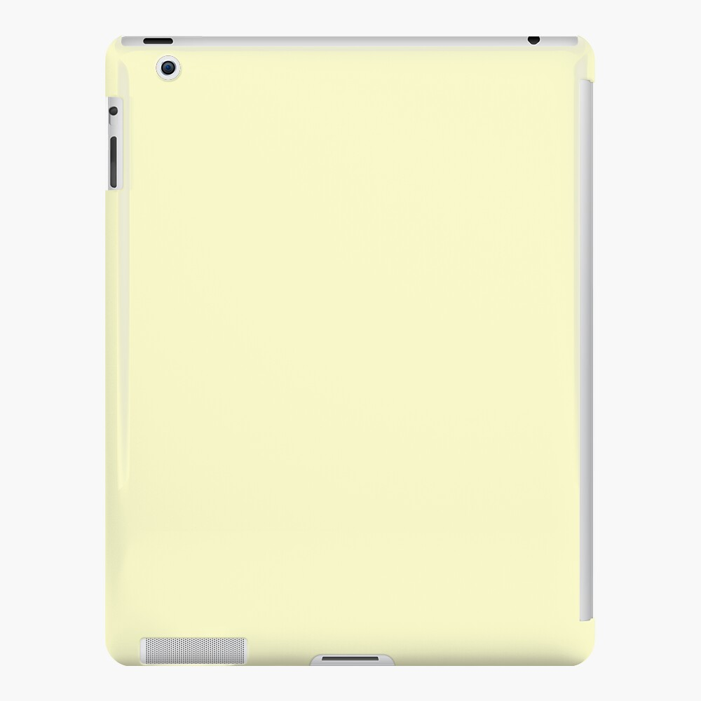 Pastel Color - Very Pale Yellow iPad Case & Skin