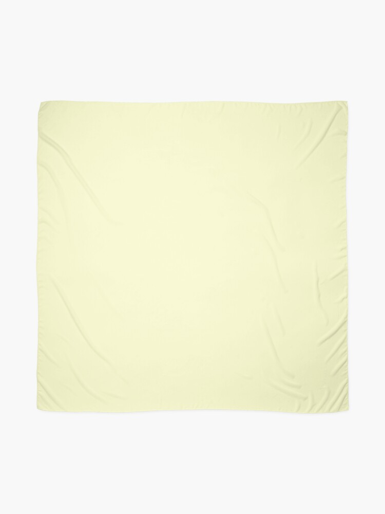 Alternate view of Pastel Color - Very Pale Yellow Scarf