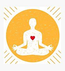 Harmony with yoga Photographic Print