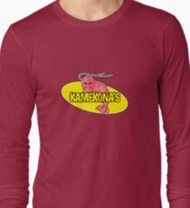 Kamekona's Shrimp Logo (Outline) Long Sleeve T-Shirt