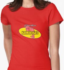 Kamekona's Shrimp Logo (Outline) Women's Fitted T-Shirt