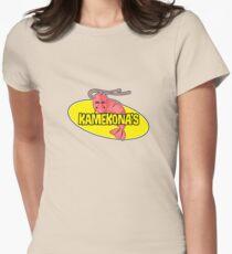 Kamekona's Shrimp Logo (Outline) Womens Fitted T-Shirt