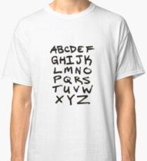 Hand Written Brush Letter Alphabet Classic T-Shirt