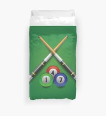 billiard icon Duvet Cover