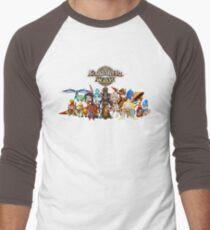 Monster Group Photo Men's Baseball ¾ T-Shirt