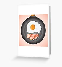 eggs and bacon Greeting Card