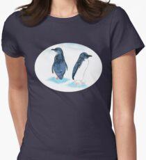 Little Blue Penguins Womens Fitted T-Shirt