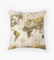 world map mandala 7 Throw Pillow