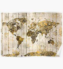 world map mandala 7 Poster