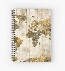 world map mandala 7 Spiral Notebook