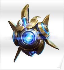 Probius - Starcraft Protoss Probe Heroes of the Storm character Poster