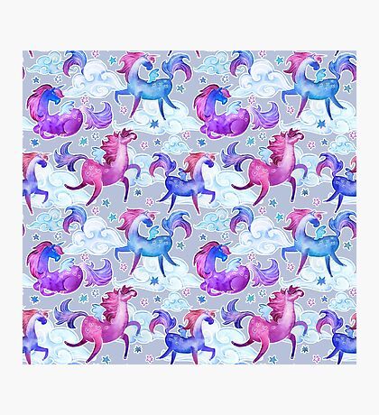 unicorns and clouds Photographic Print
