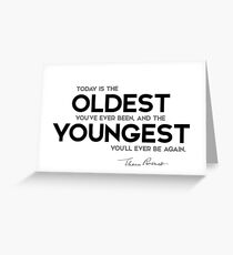 oldest, youngest - eleanor roosevelt Greeting Card