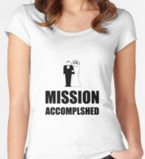 Mission Accomplished Wedding Bride Groom Women's Fitted Scoop T-Shirt