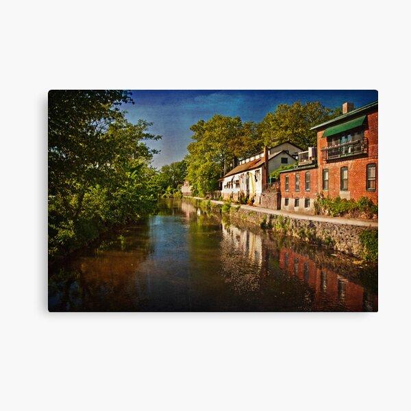 Canal along the Porkyard Canvas Print