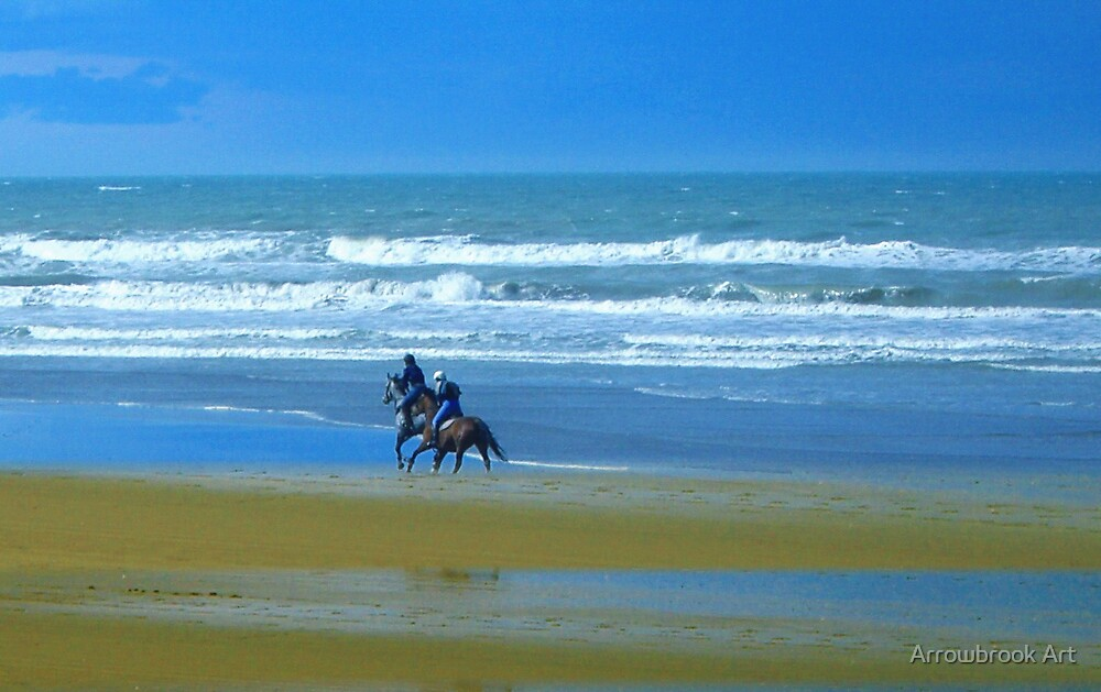 Pines Beach, Christchurch NZ. by John Brotheridge