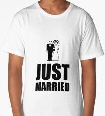 Just Married Wedding Bride Groom Long T-Shirt