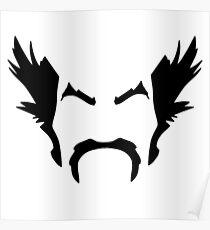 HeiHachi Mishima Tekken Black Poster