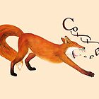 Coffee Fox by Ruta Dumalakaite