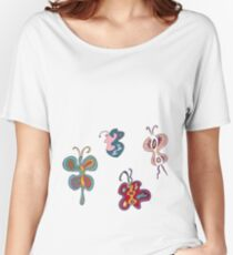 Abstract Butterflies Women's Relaxed Fit T-Shirt