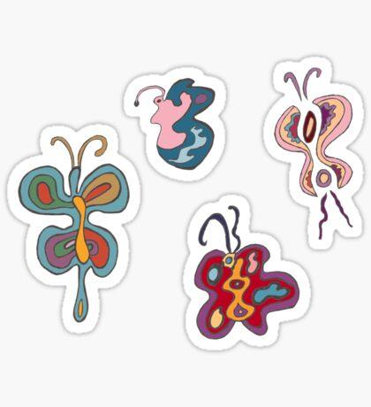 Abstract Butterflies Sticker