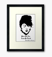 Ashley: What do you think of that? Framed Print