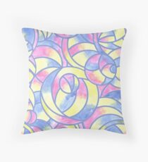 Watercolor Abstract Pattern Throw Pillow