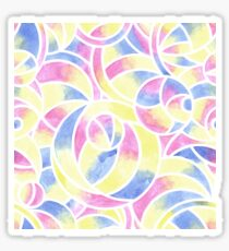 Watercolor Abstract Pattern Sticker