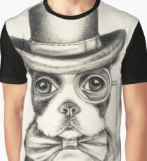Boston Terrier Gentleman Graphic T-Shirt