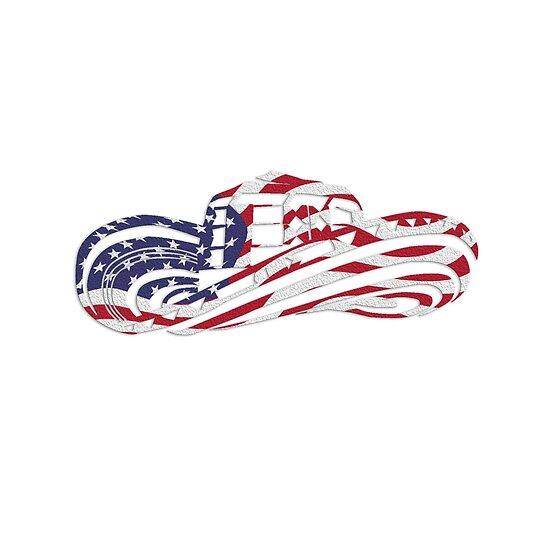 Sombrero colombiano Vueltiao en colores de la bandera de Estados Unidos 816aacc9760